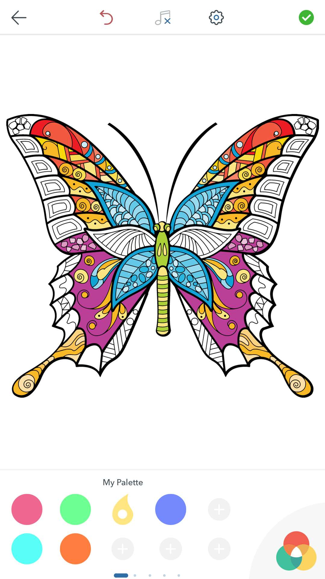 Farfalle da Colorare Adulti per Android iOS e Windows Phone