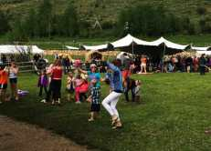 Dancing in Teton Valley with Peak Tents provding shelter from the storm