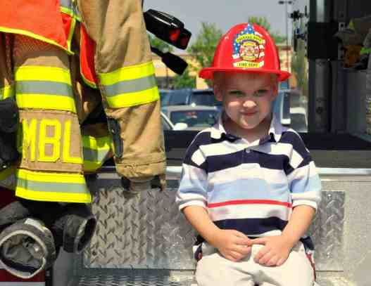 Sitting on a Jackson Hole Fire Engine