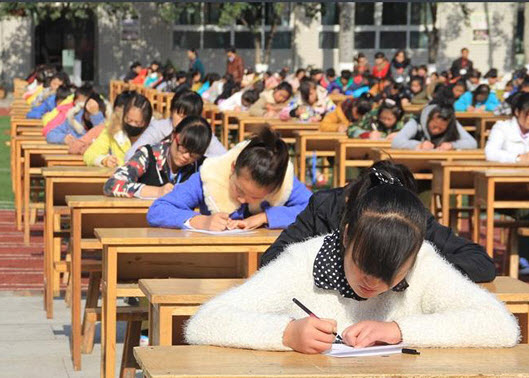 Taking Exams in China at Shaanxi