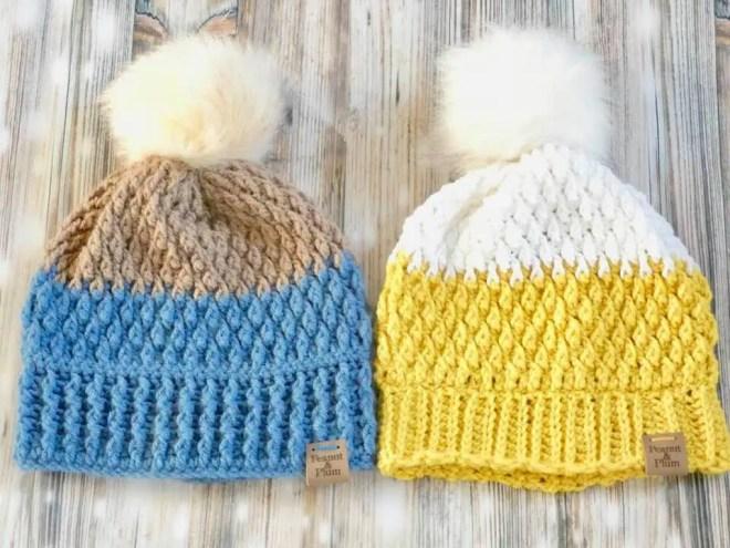 Alpine beanie - crochet tutorial