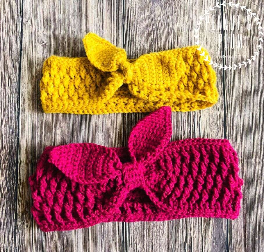 Dahlia Easy And Quick Retro Chunky Headband Crochet