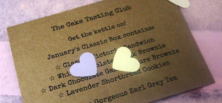 "January's ""The Cake Tasting Club"" box"