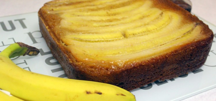 A delicious alternative to banana bread – upside down banana and maple cake