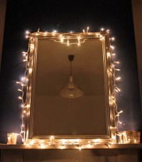 fairy lights mirror | peanut buttered