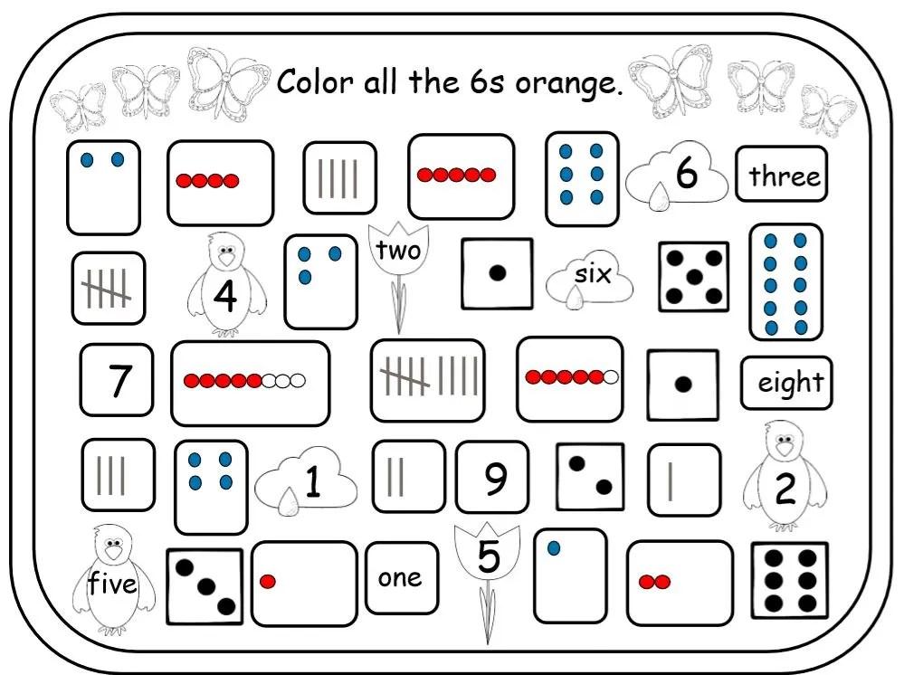 Seasonal Number Sense Packets for Kindergarten and 1st