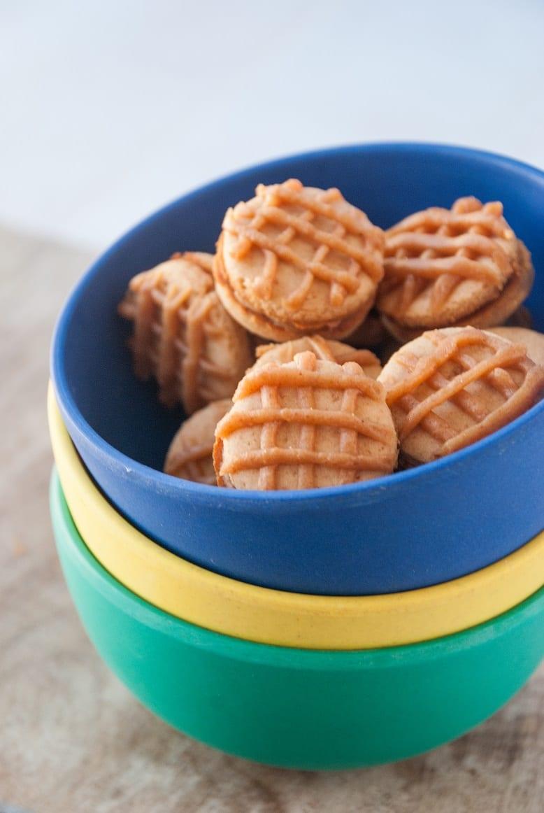 Healthy Mini Peanut Butter Sandwich Cookies