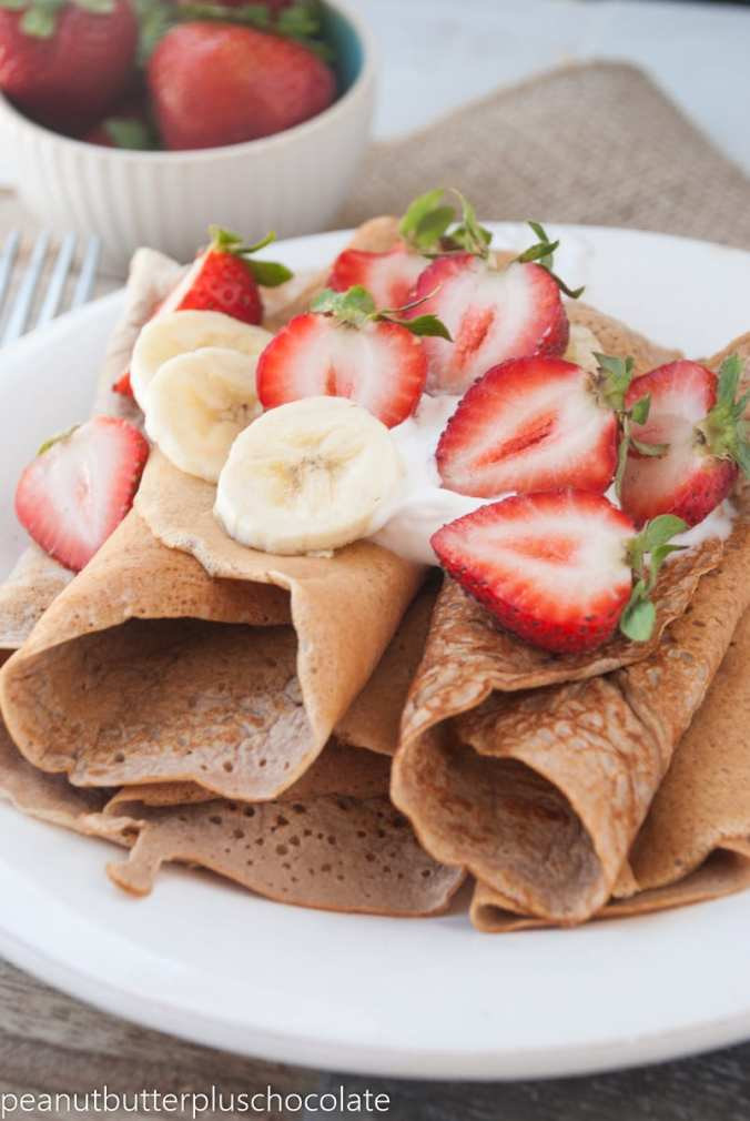 Healthy Peanut Butter Protein Crepes