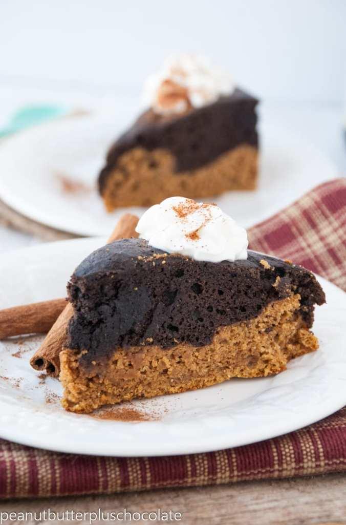 The Best Ever Healthy Pumpkin Chocolate Cake