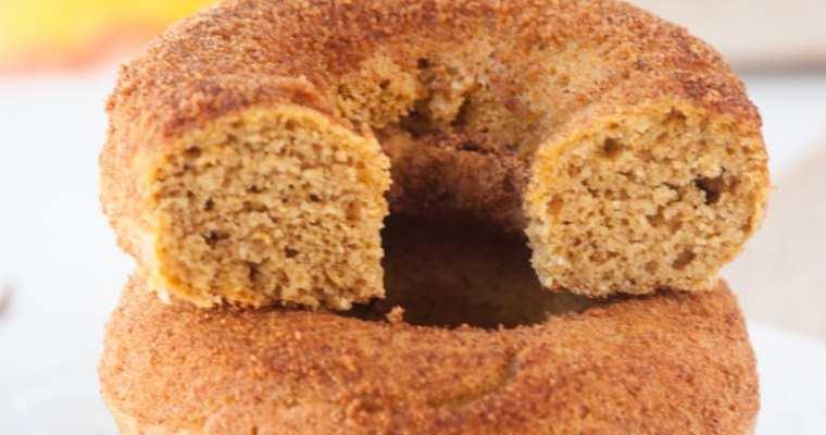 Healthy Cinnamon Sugar Pumpkin Donuts