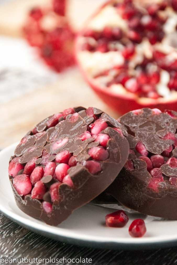 Healthy Chocolate Pomegranate Cups
