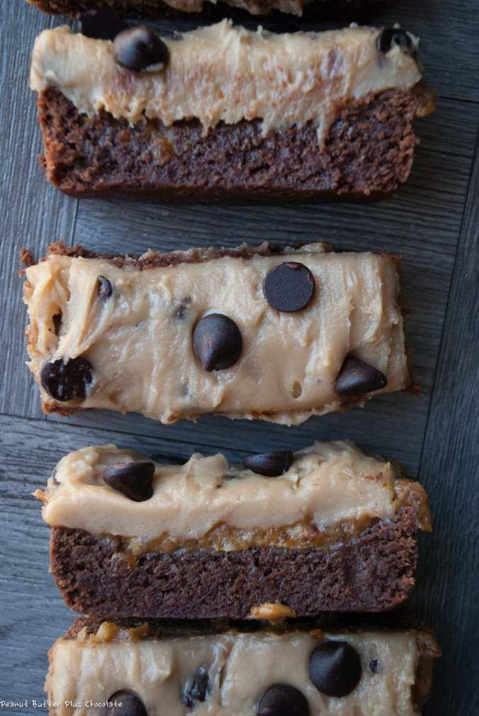 Healthy Cookie Dough Date Caramel Brownies