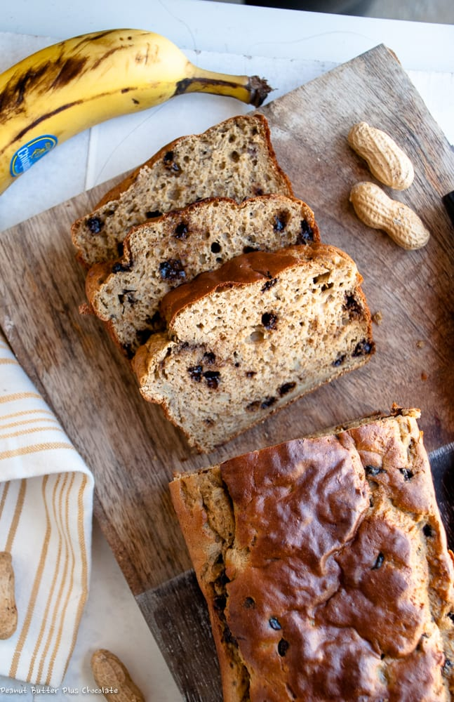 Healthy Whole Wheat Chocolate Chip Banana Bread