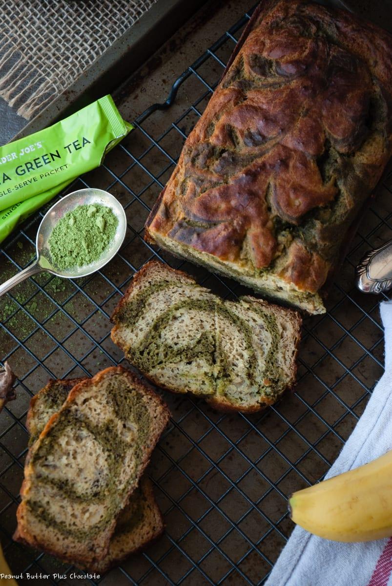 Healthy Matcha Green Tea Banana Bread