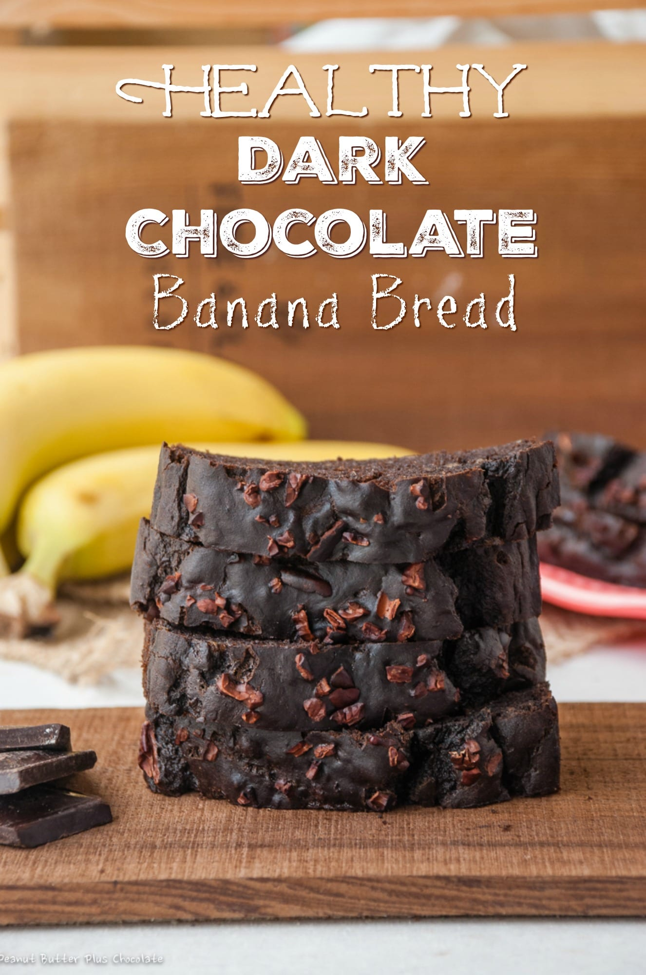 Healthy Dark Chocolate Banana Bread