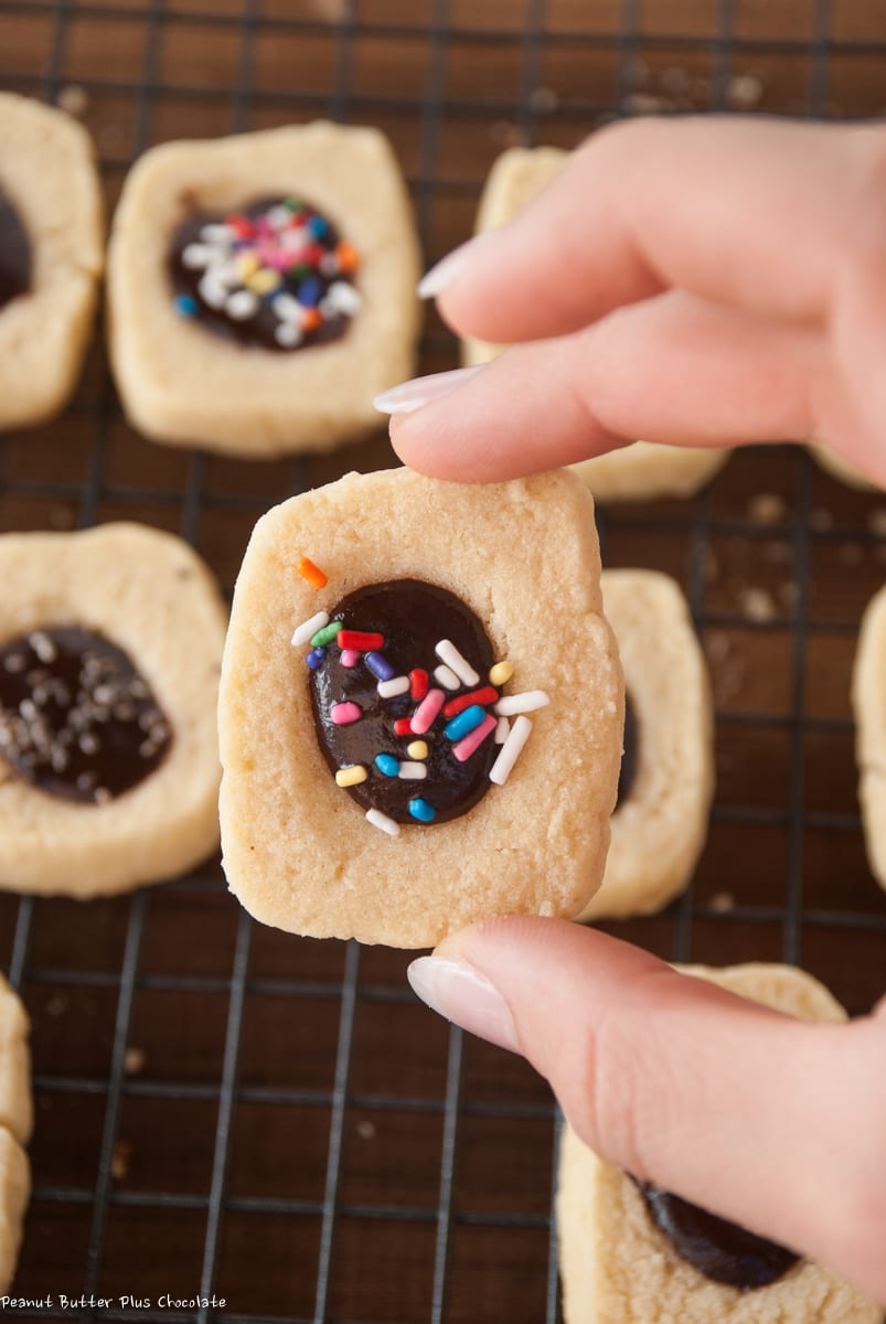 Healthy Shortbread Chocolate Filled Cookies