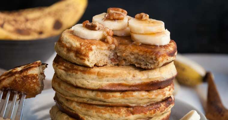 Healthy Banana Bread Pancake