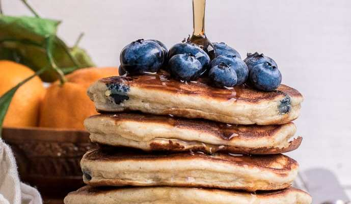 The Best Ever Healthy Blueberry Protein Pancakes
