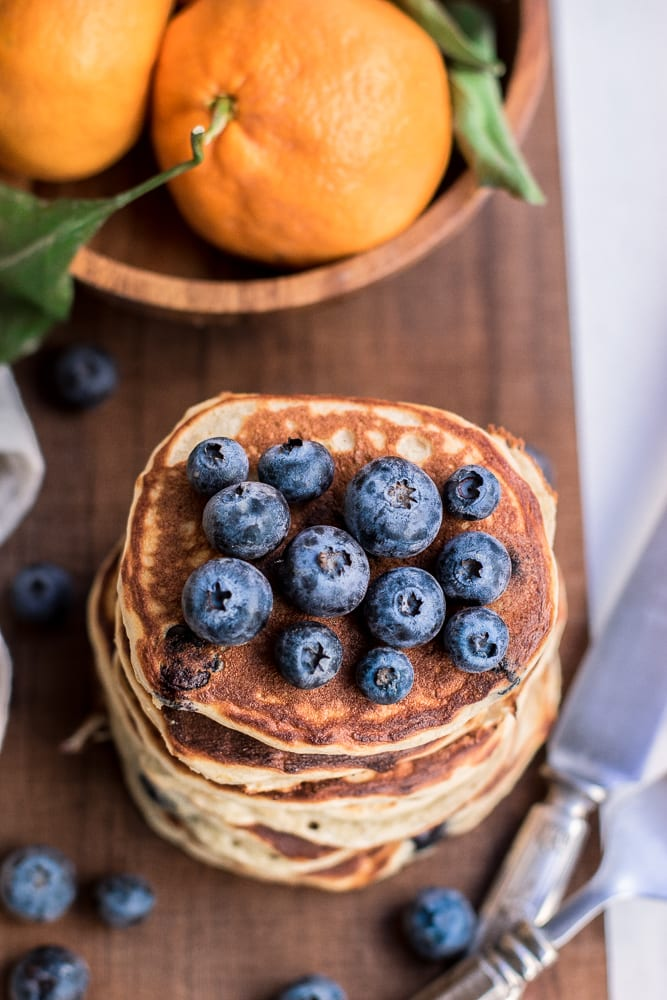 The Best Ever Healthy Blueberry Pancakes