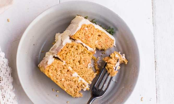 Healthy Coconut Carrot Cake with Buttercream Frosting