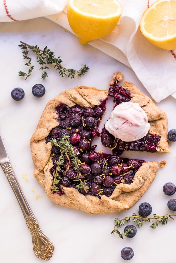 Blueberry Lemon & Thyme Gluten Free Galette