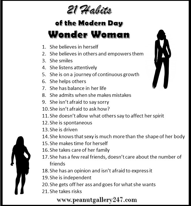 21 Habits of the Modern Day Wonder Woman
