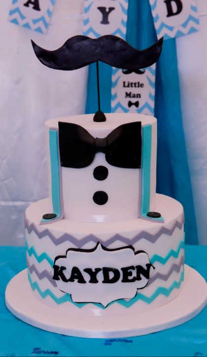 Little Man Birthday Cake - PeanutGallery247