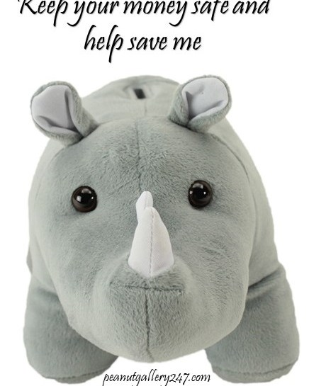 Help Save the Rhino with a Rhino Coin Bank