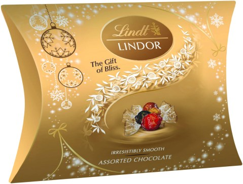 LINDOR Gold Range Pillow Box 100g - PeanutGallery247