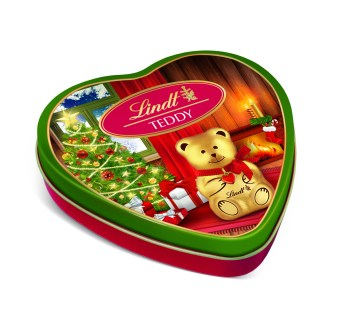 LINDT Chocolate TEDDY and LINDOR Tin 55g - PeanutGallery247
