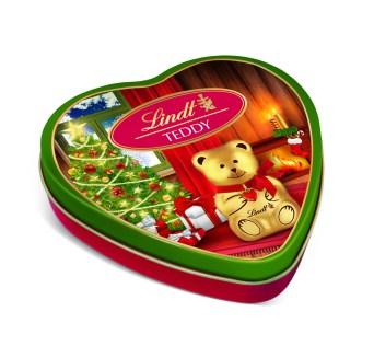 LINDT Chocolate TEDDY and LINDOR Tin 55g - PeanutGallery247
