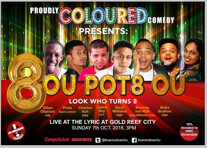 Proudly Coloured Comedy returns for it's 8th year!