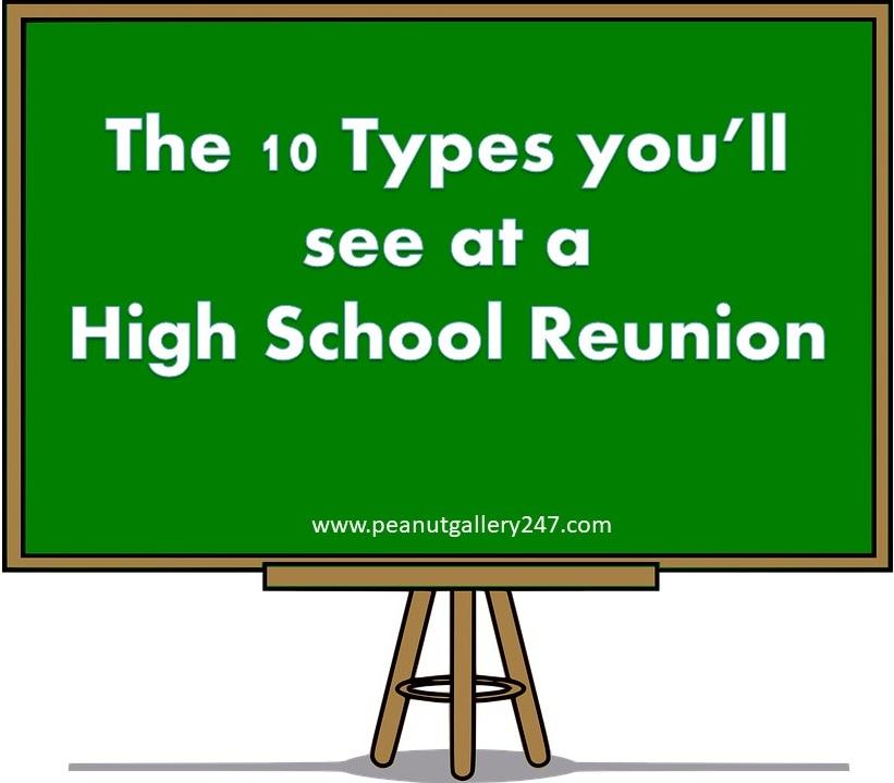 High School Reunion – Ten Types you'll see
