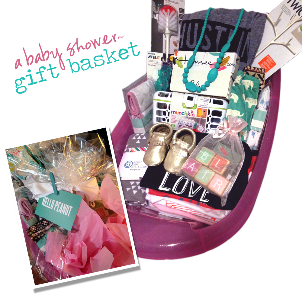 A Baby Shower Gift Basket for a Mama To Be