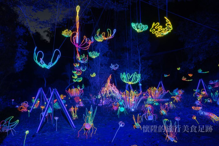 【台南景點】龍崎光節「空山祭」:點亮台南山城秘境,看見繽紛的奇幻世界