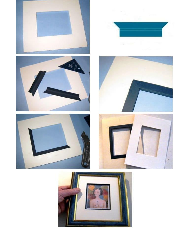 3 простых способа сделать паспарту для картины своими руками | Пошаговые фото, видео и идеи для творчества