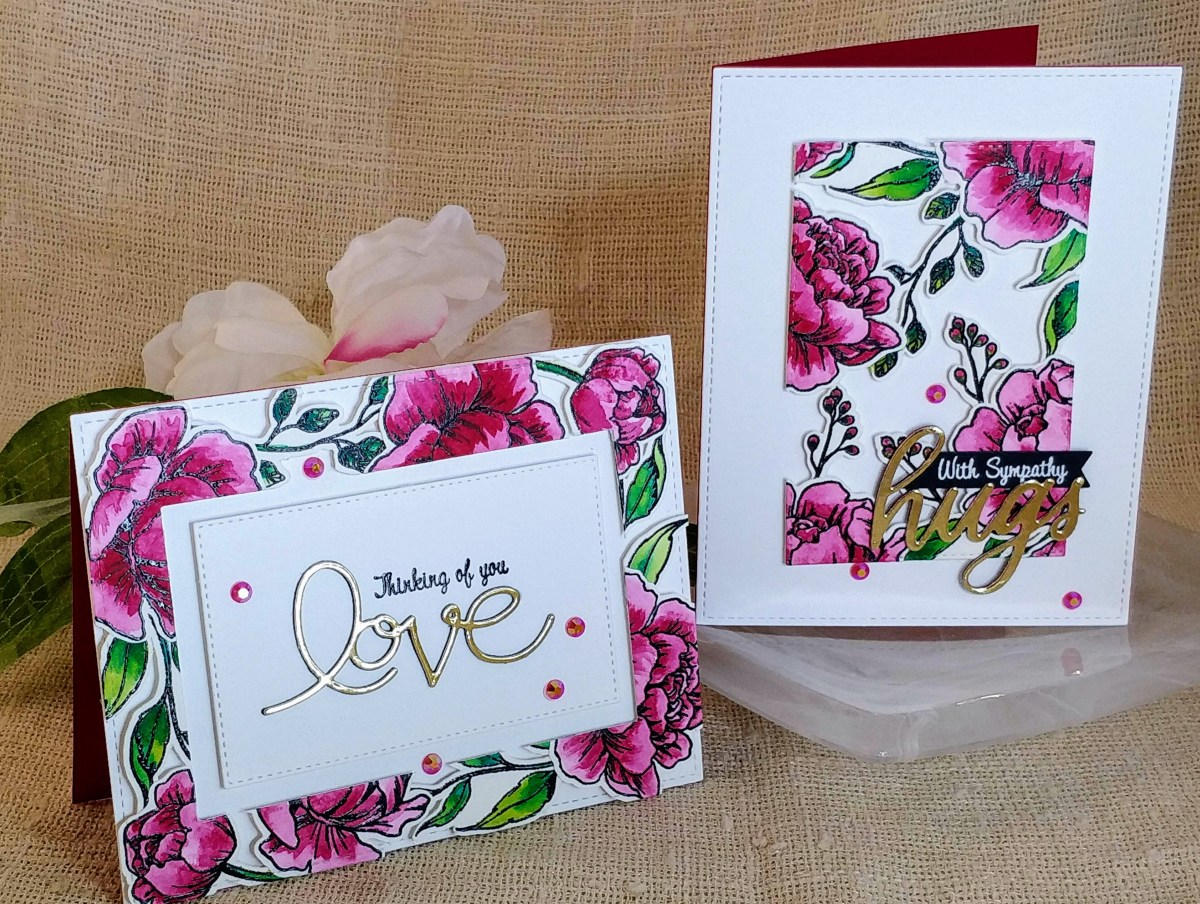 Pretty Peony 2 for 1 Cards