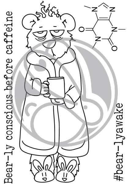 Caffeinated Bear, The Rabbit Hole Designs