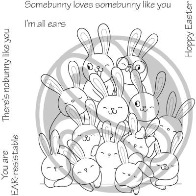 All Ears The Rabbit Hole Designs Clear Stamp