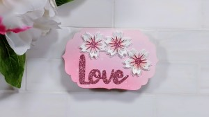 Create a Shaped Card Cherry Blossom i-crafter