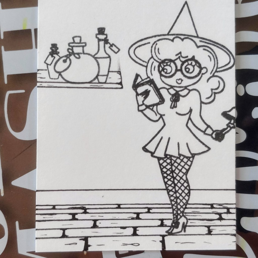 Create a Scene Pear Blossom Press Halloween Witch