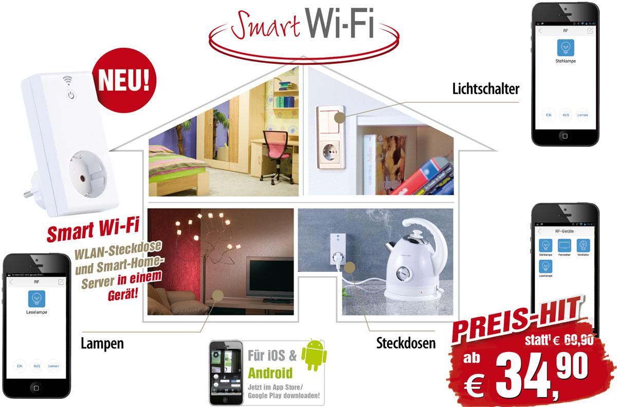 lichtschalter wlan smart wifi steckdose alexa app. Black Bedroom Furniture Sets. Home Design Ideas