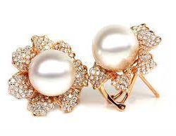 Pearl stone Moti earrings