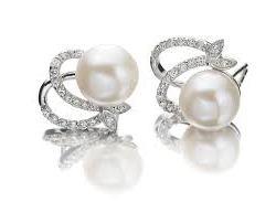 Pearl gemstone Moti earrings