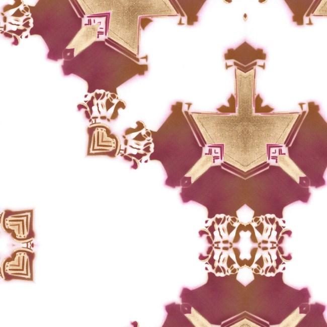 los angeles wallpaper red burgundy gold art deco