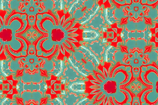 Carmen Pearl and Maude Pattern for Wallpaper, Fabric and Home Goods Detail