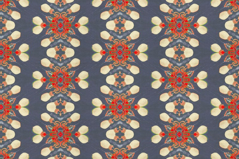 Arabella is a gray and red home decor pattern on grasscloth wallpaper. This street light-inspired design is moody and sophisticated and full of movement!