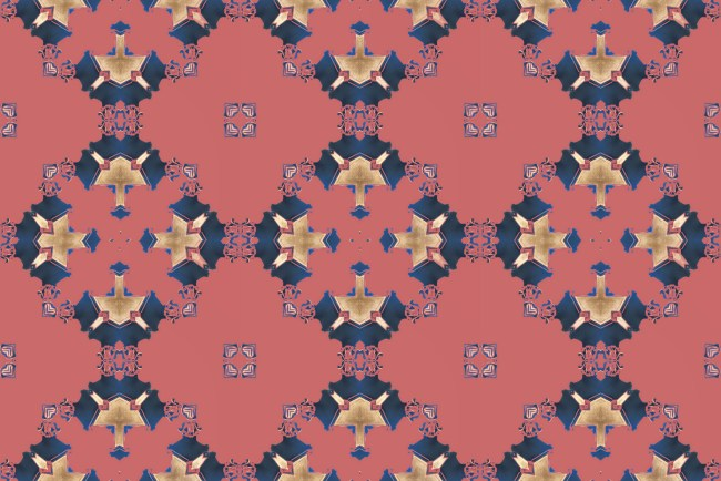 wallpaper los angeles art deco pink and blue