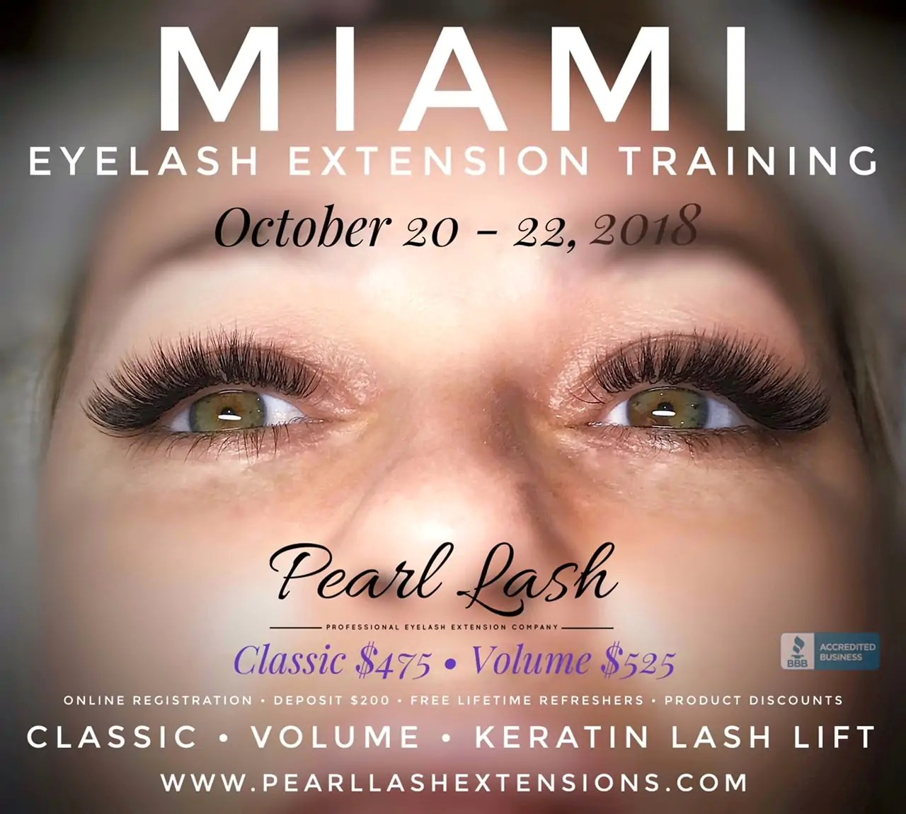 2fd2cdd2389 Miami Volume Eyelash Extension Training Event October 21, 2018 – Fairfield  Inn & Suites by Marriott Miami Airport South