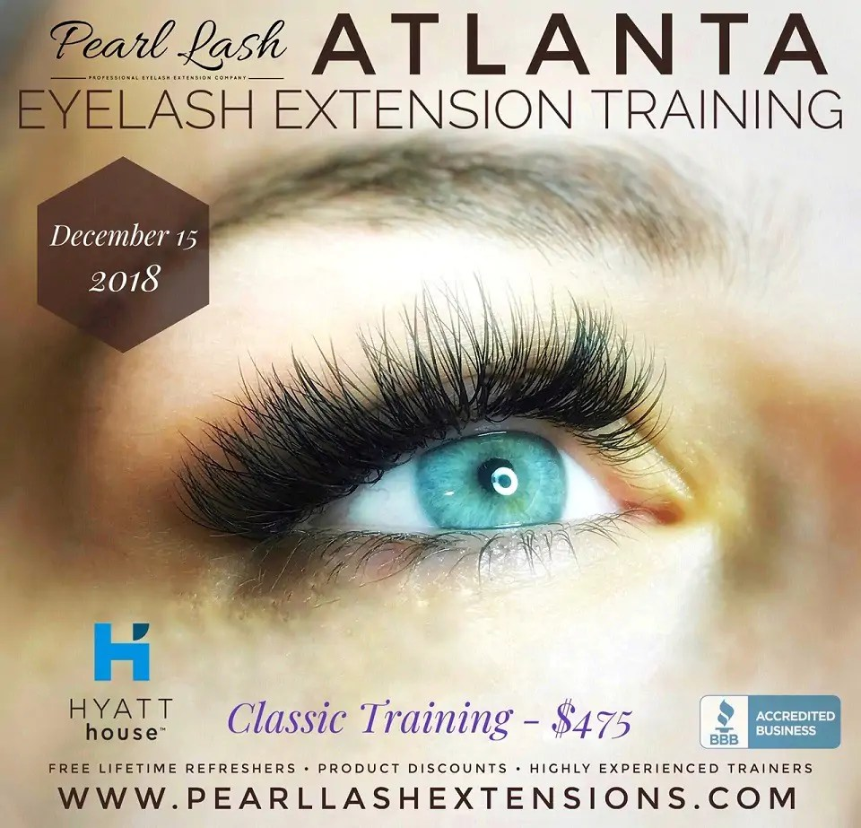 Atlanta Eyelash Extension Training Classic December 15 2018 Pearl Lash